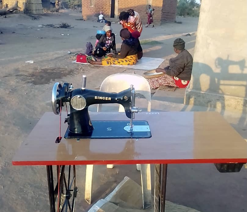 De nieuwe naaimachine
